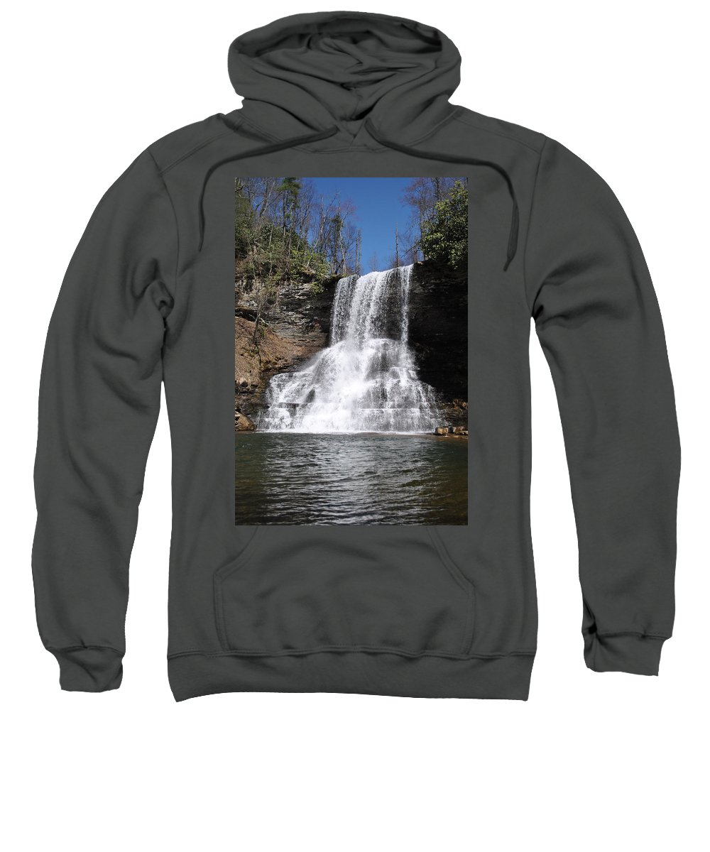 Waterfalls Sweatshirt featuring the photograph The Cascades Falls II by Eric Liller