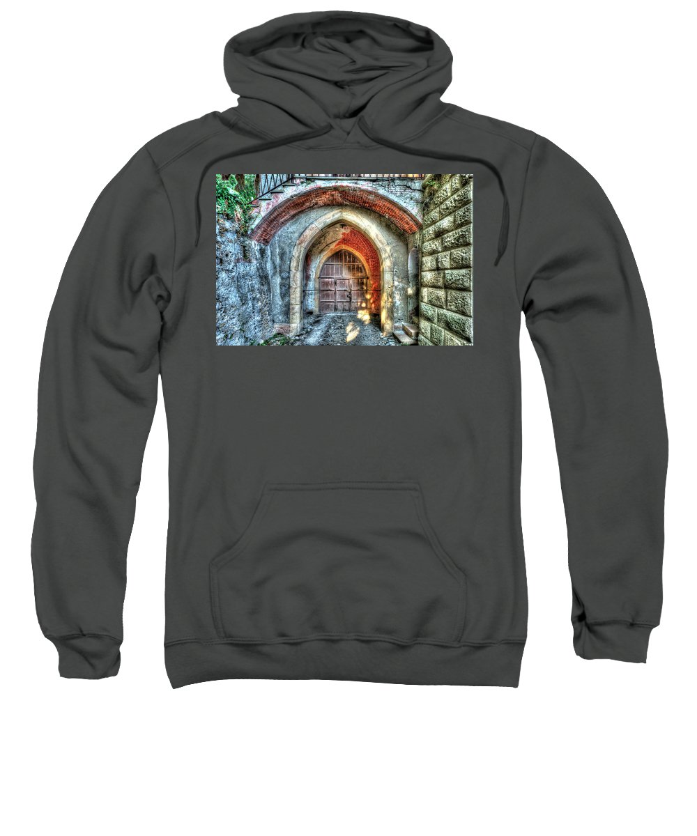 Castle Sweatshirt featuring the photograph The Castle Door - La Porta Del Castello by Enrico Pelos