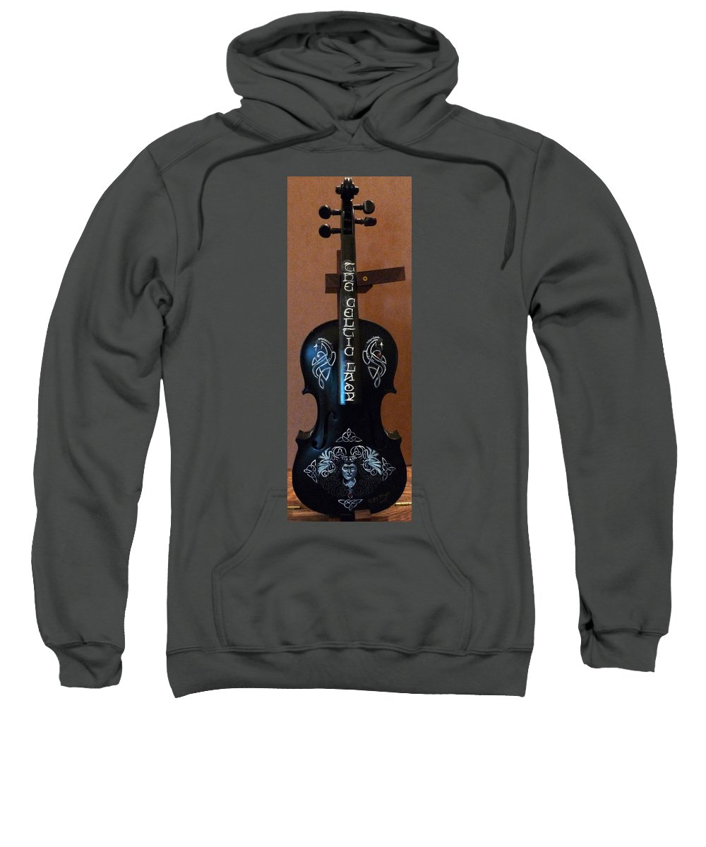Violin Sweatshirt featuring the painting The Celtic Lady 1 by Richard Le Page