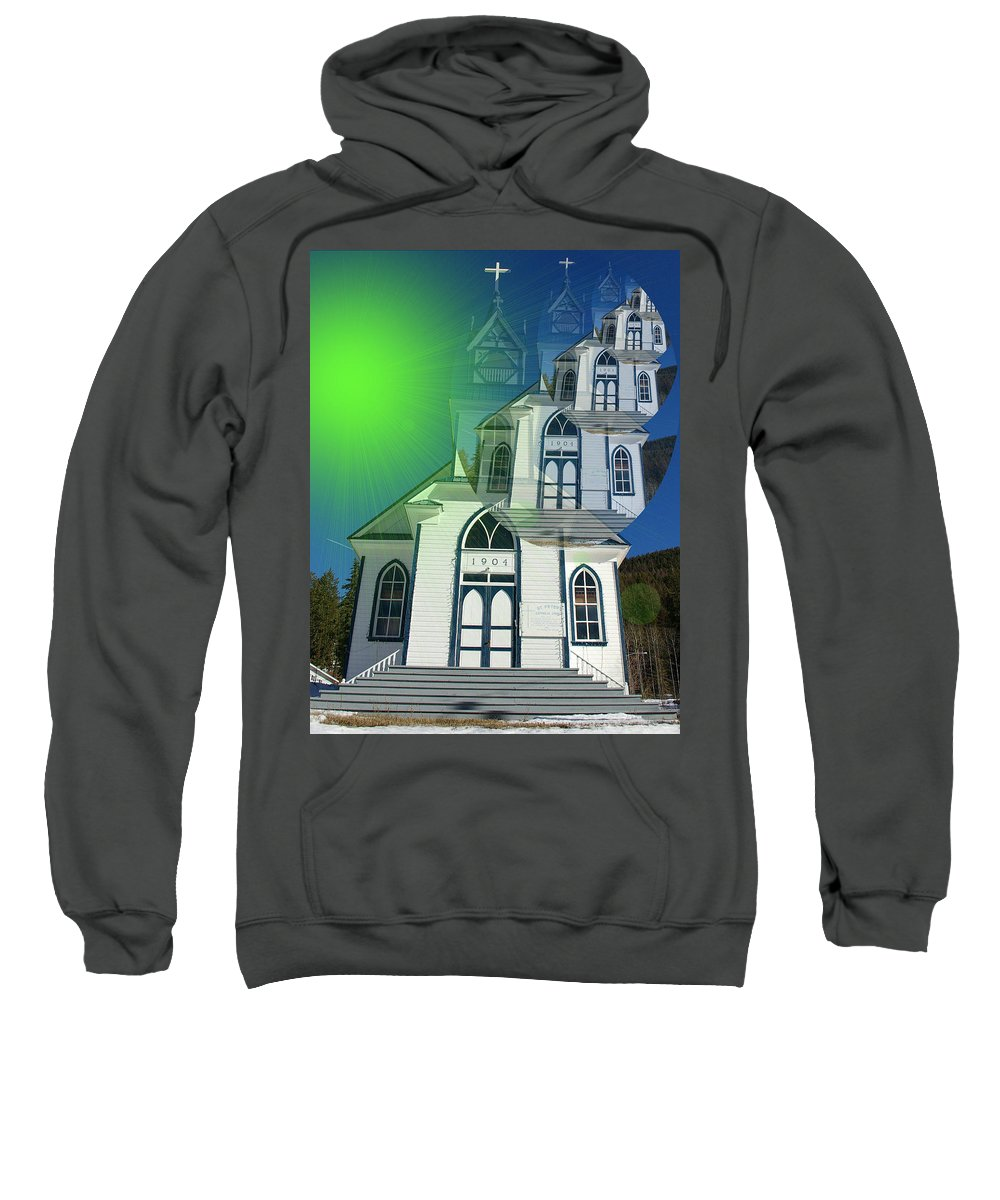 British Columbia Sweatshirt featuring the photograph The Church At Moyie Springs by Jeff Swan