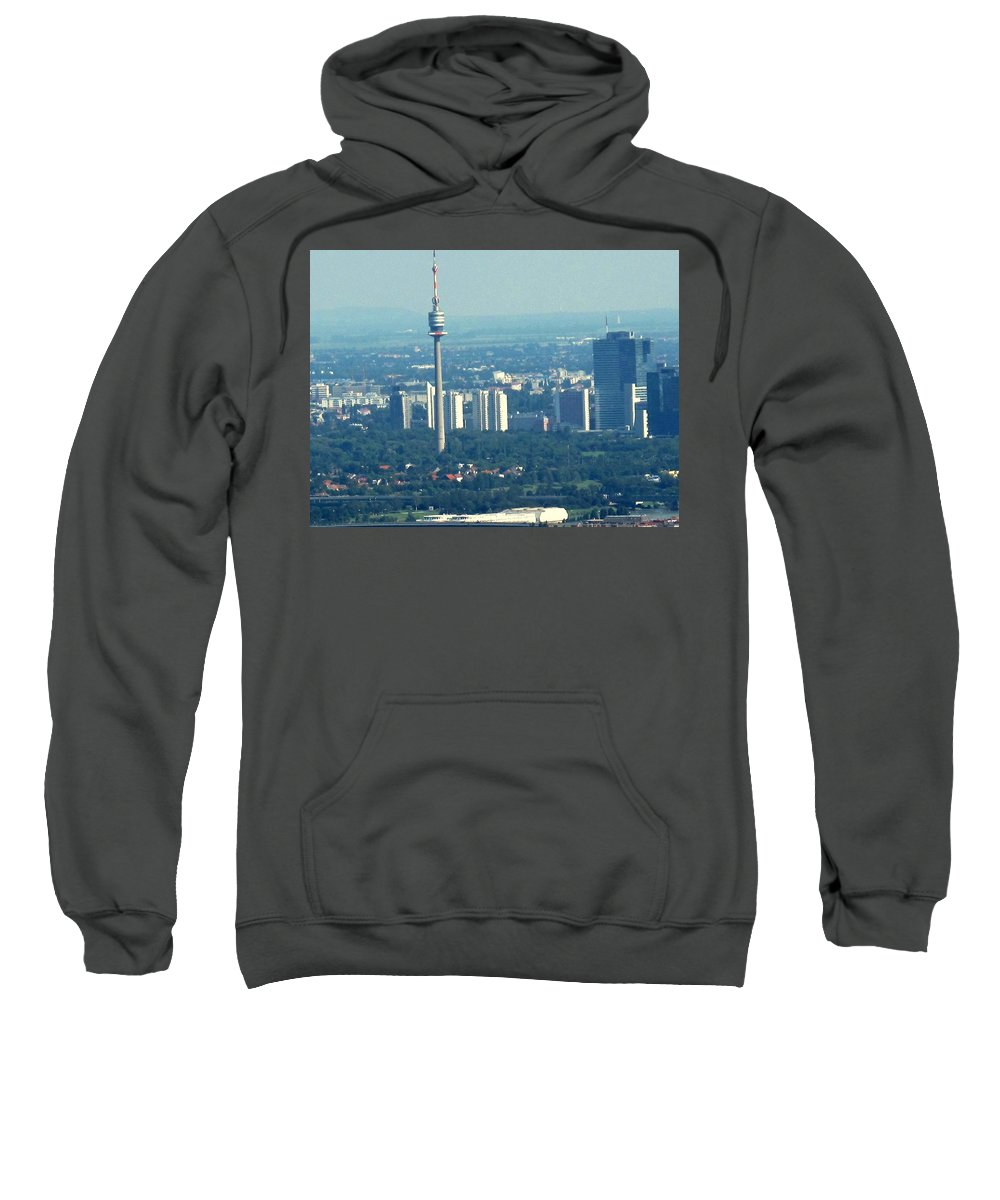 Austria Sweatshirt featuring the photograph The City Of Vienna Austria by Ian MacDonald