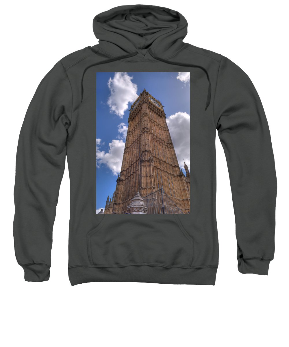 Big Ben Sweatshirt featuring the photograph The Clock Tower by Chris Day