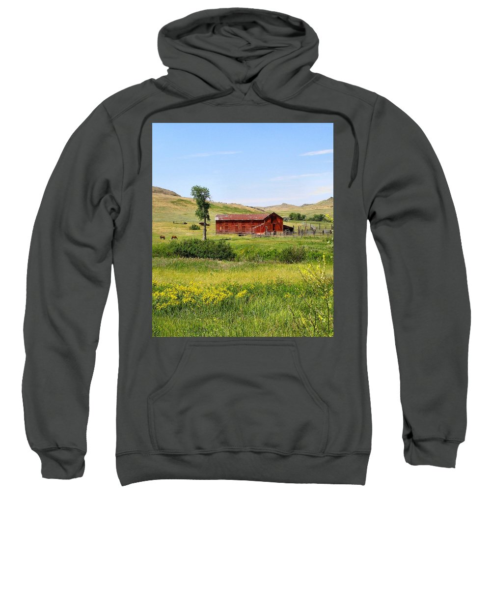 Montana Sweatshirt featuring the photograph The Color Of Montana by Susan Kinney
