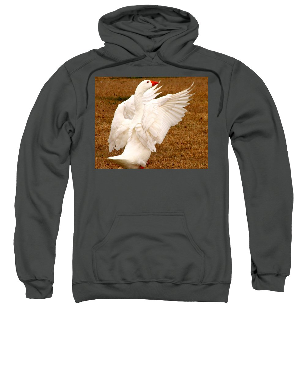 Geese Sweatshirt featuring the photograph The Conductor by J M Farris Photography