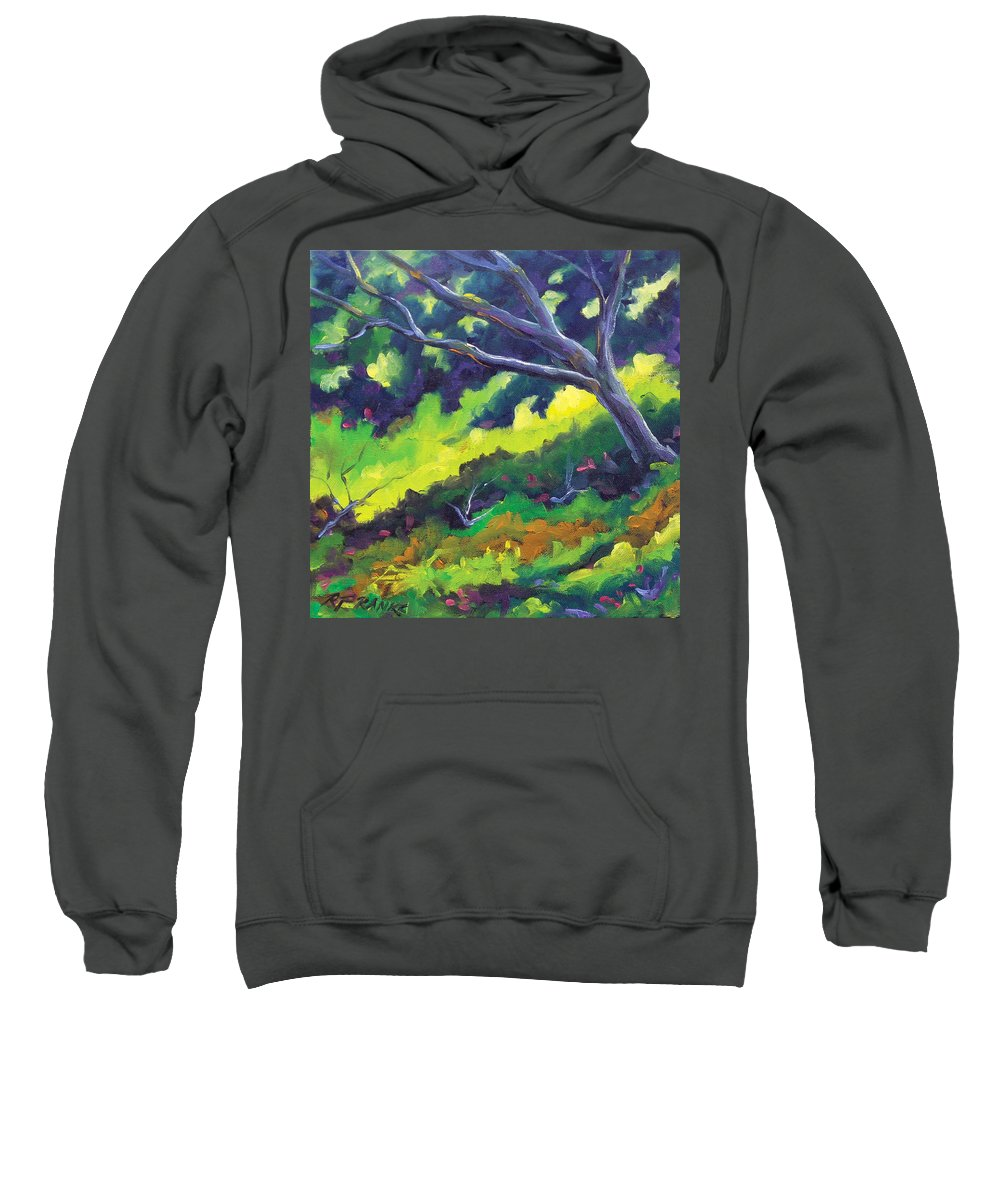 Art Sweatshirt featuring the painting The Cool Shade by Richard T Pranke