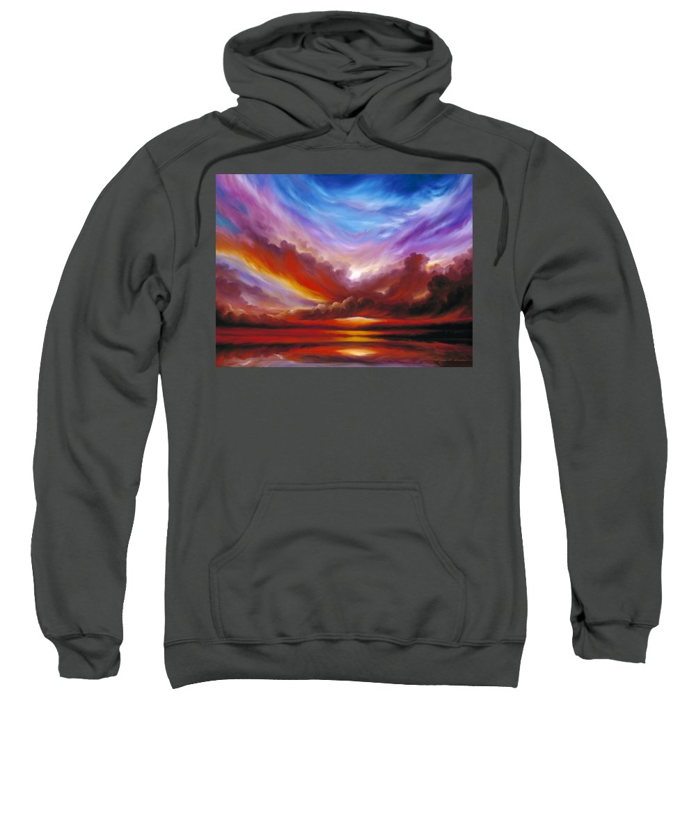 Skyscape Sweatshirt featuring the painting The Cosmic Storm II by James Christopher Hill