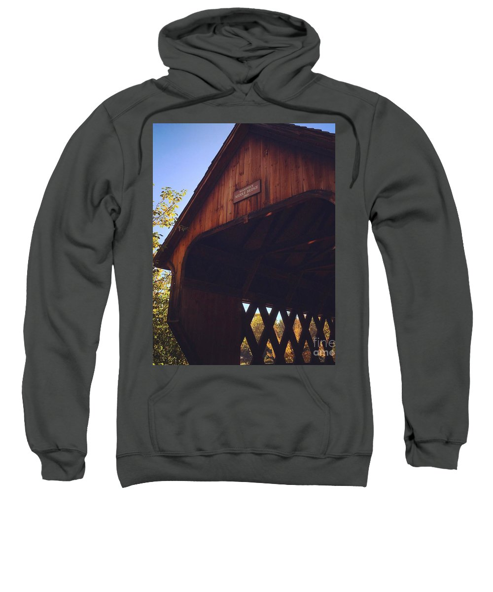 Covered Bridge Sweatshirt featuring the photograph The Covered Bridge by Penn Patrick