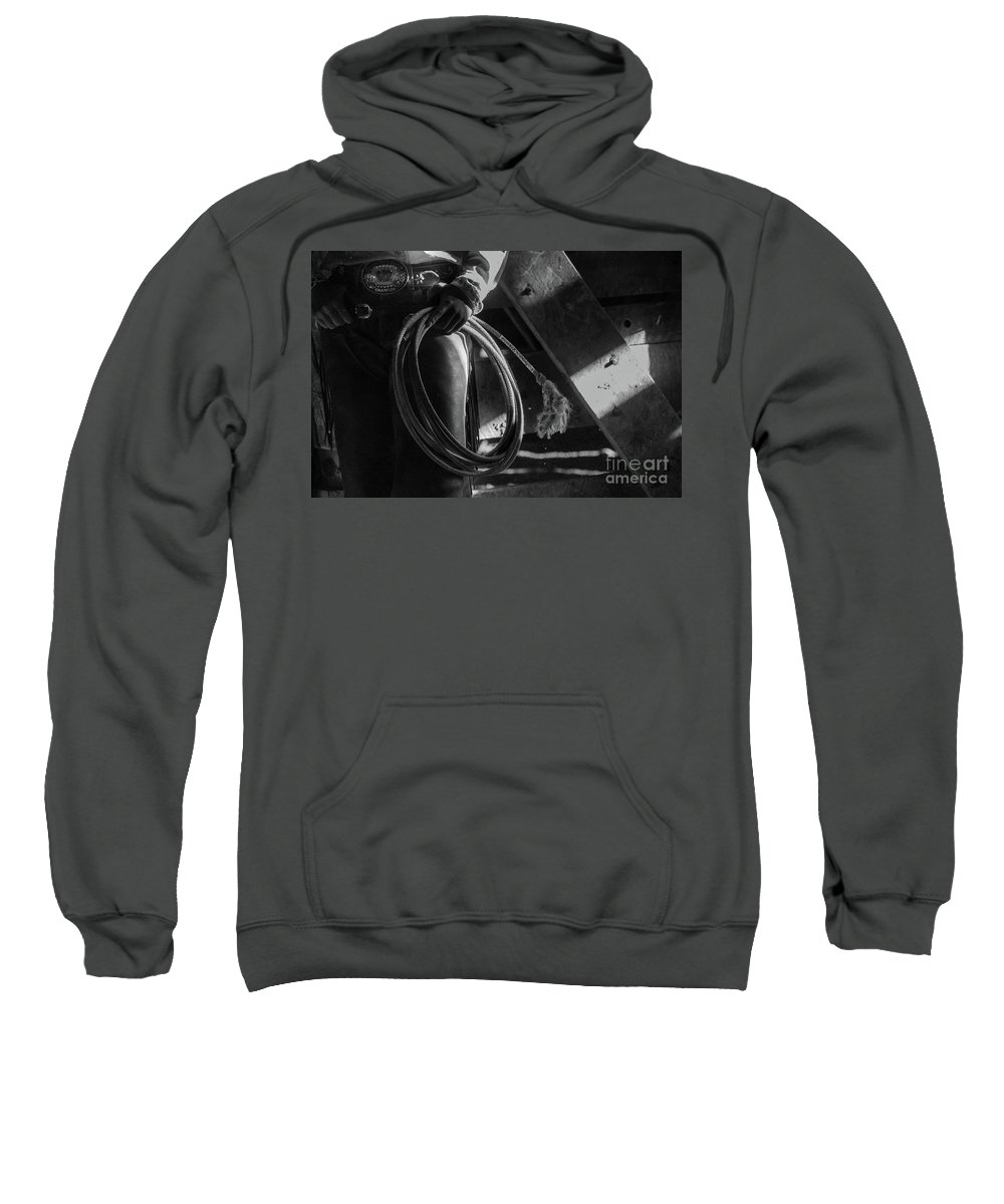 Sweatshirt featuring the photograph The Cowgirl by Erin Schwartzkopf
