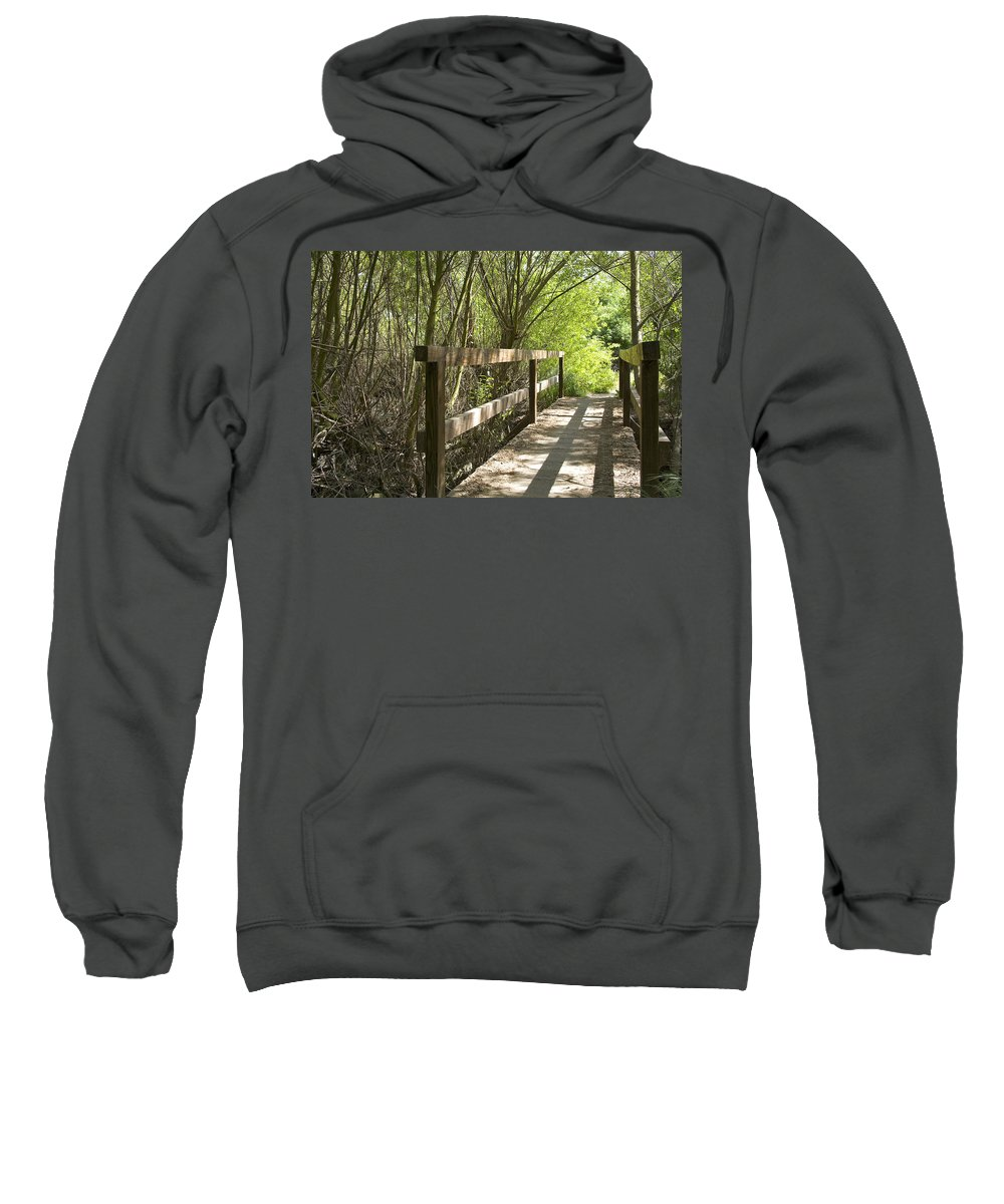 Wood Bridge Sweatshirt featuring the photograph The Crossing by Kelley King
