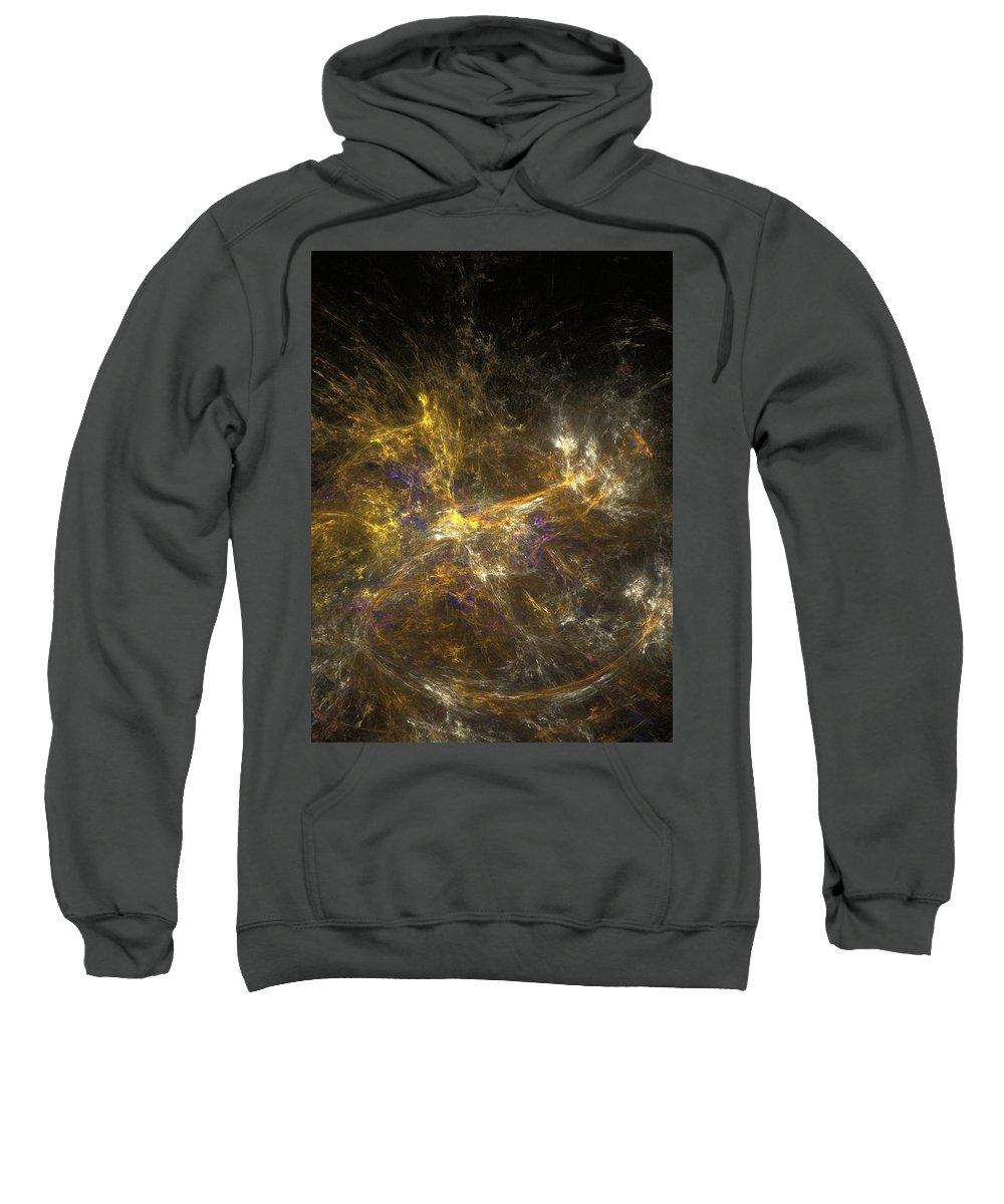 Abstract Digital Photo Sweatshirt featuring the digital art The Dance 3 by David Lane