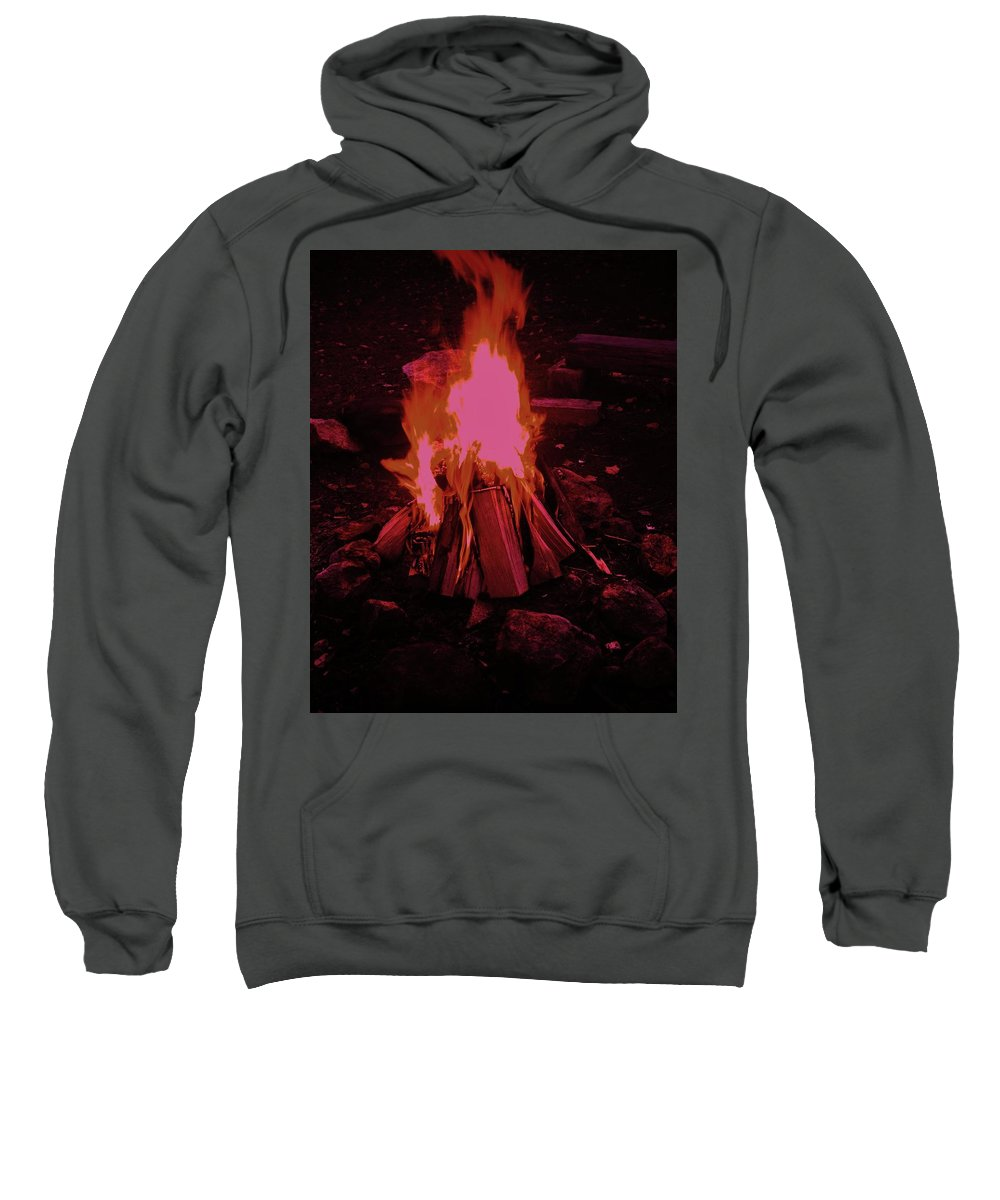 Campfire Sweatshirt featuring the photograph The Dance Of Fire by Traci Barnes