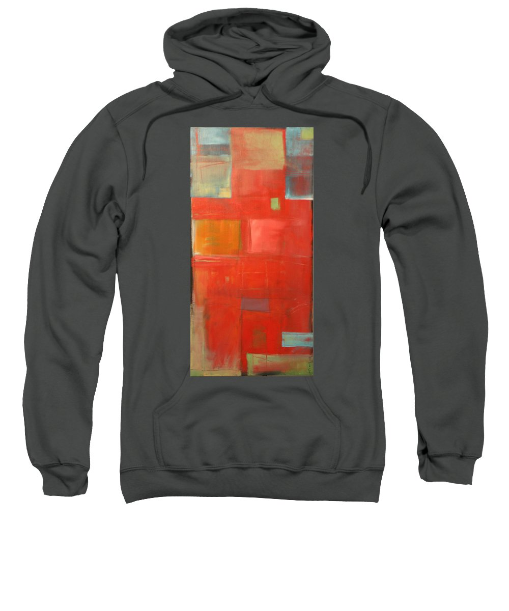 Red Sweatshirt featuring the painting The Day Tim Russert Died by Tim Nyberg