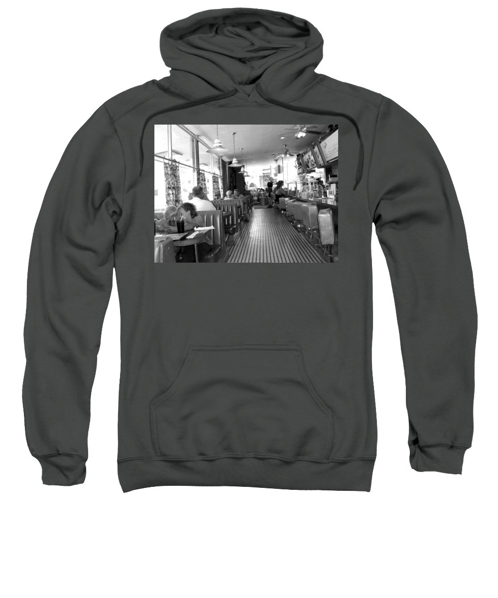 Diner Sweatshirt featuring the photograph The Diner by Wayne Potrafka