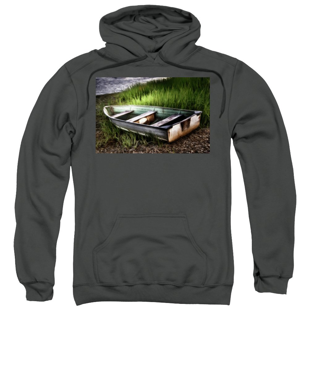 Dinghy Sweatshirt featuring the photograph The Dinghy by Marie Altenburg
