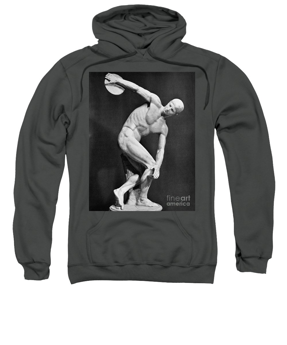 140's Sweatshirt featuring the photograph The Discobolus, 450.b.c by Granger