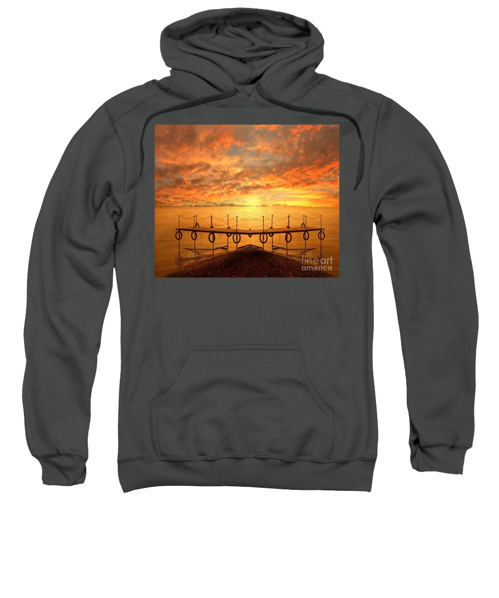 Waterscape Sweatshirt featuring the photograph The Dock by Jacky Gerritsen