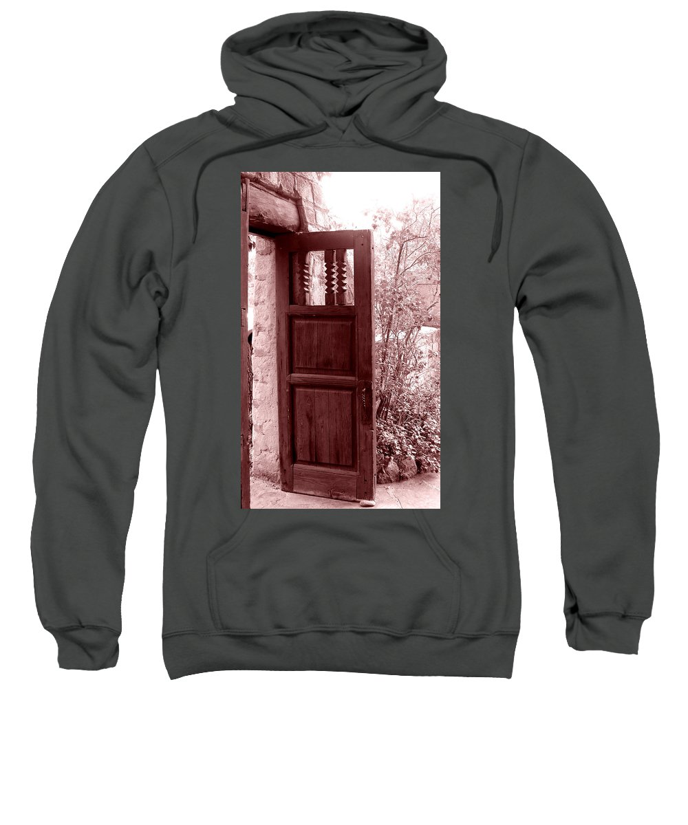 Door Sweatshirt featuring the photograph The Door by Wayne Potrafka