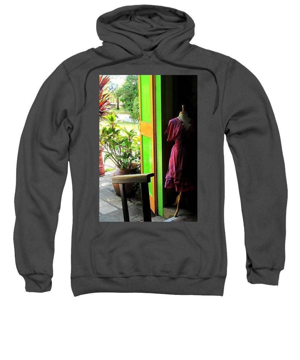 Dress Sweatshirt featuring the photograph The Dress Store by Ian MacDonald