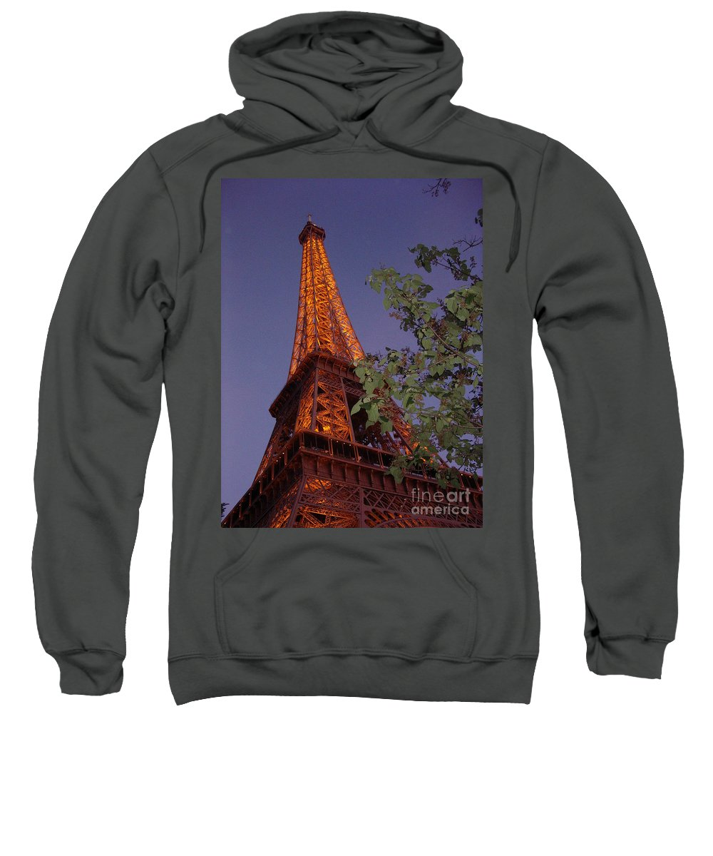 Tower Sweatshirt featuring the photograph The Eiffel Tower Aglow by Nadine Rippelmeyer
