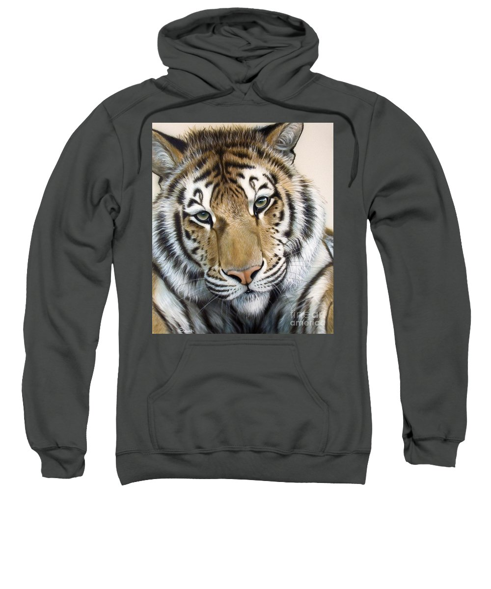 Acrylic Sweatshirt featuring the painting The Embrace by Sandi Baker