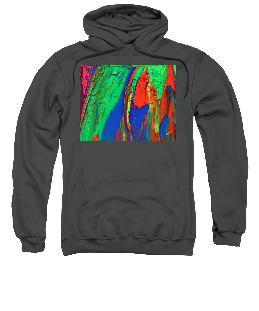 Fusionart Sweatshirt featuring the painting The Escape by Ralph White