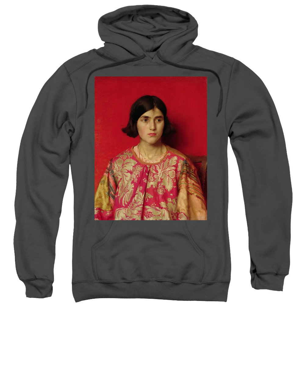 The Sweatshirt featuring the painting The Exile - Heavy Is The Price I Paid For Love by Thomas Cooper Gotch