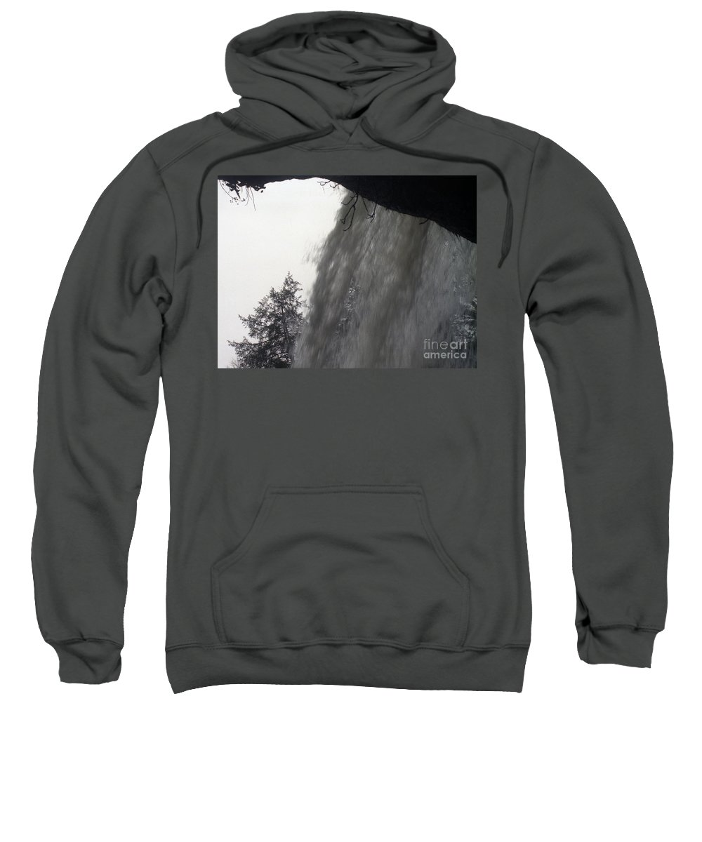 Waterfalls Sweatshirt featuring the photograph The Falls by Richard Rizzo