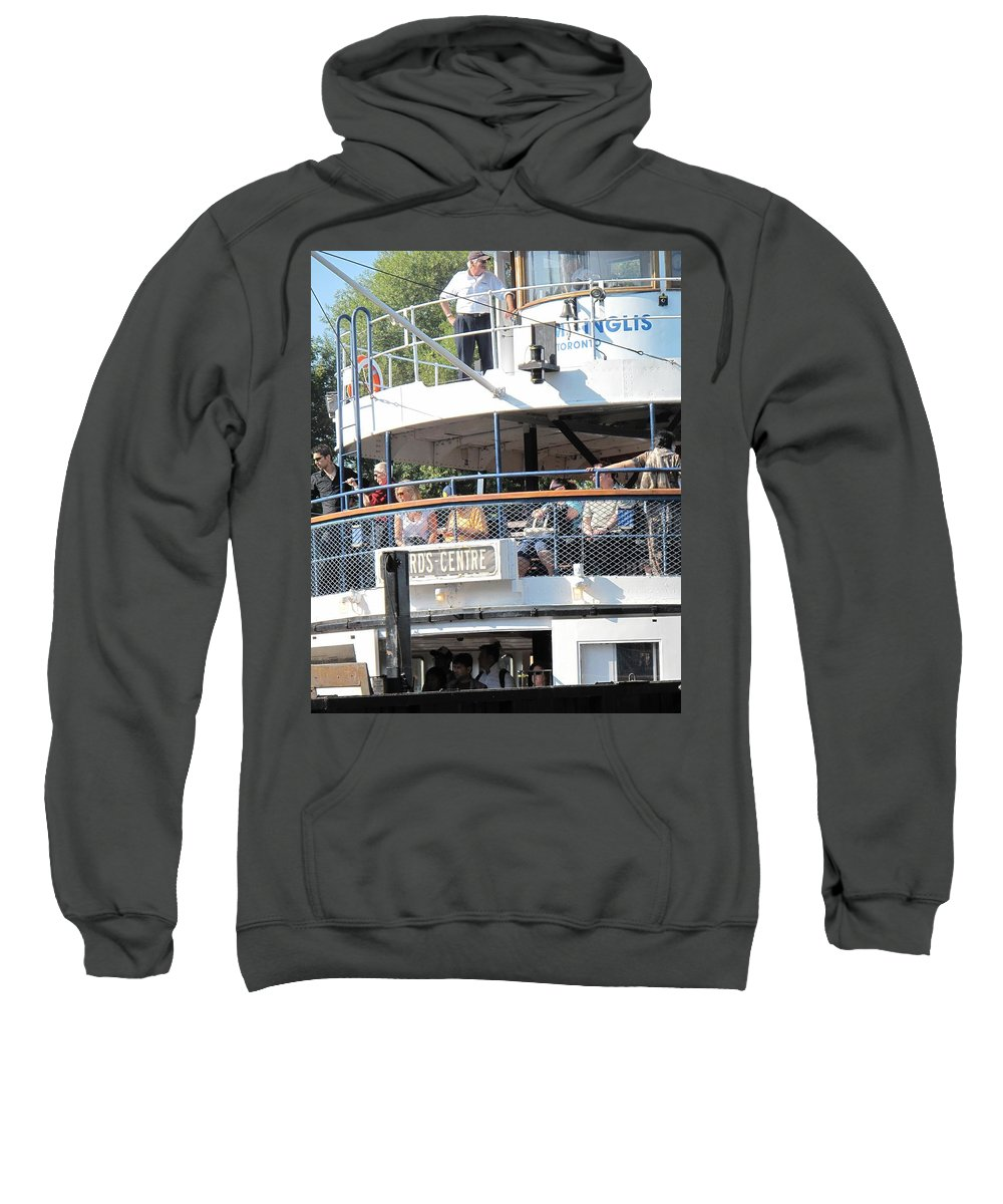 Ferry Sweatshirt featuring the photograph The Ferry Arrives by Ian MacDonald