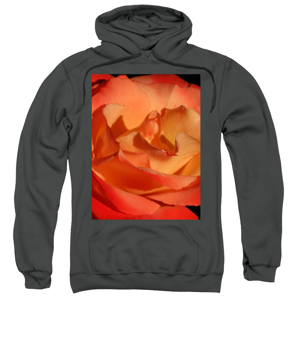 Rose Sweatshirt featuring the photograph The Final Rose Of Summer by Marla McFall