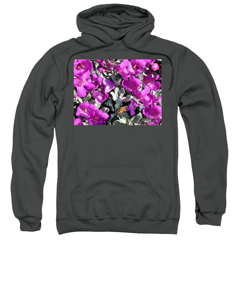 Nature Sweatshirt featuring the photograph The Flight Of The Bumble Bee by Lucyna A M Green