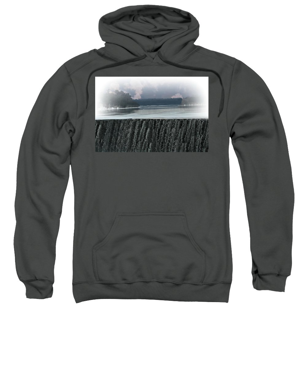 Waterfall Sweatshirt featuring the photograph The Flowing Merrimack by Barbara S Nickerson