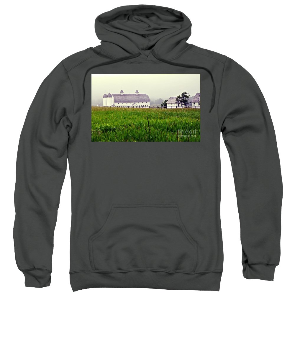 Barns Sweatshirt featuring the photograph The Fog Has Lifted by Lydia Holly