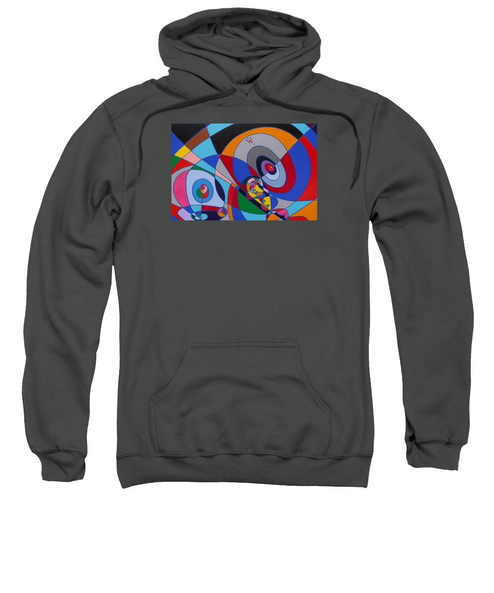 Canvas Print Sweatshirt featuring the painting The Force by Frank Hiley
