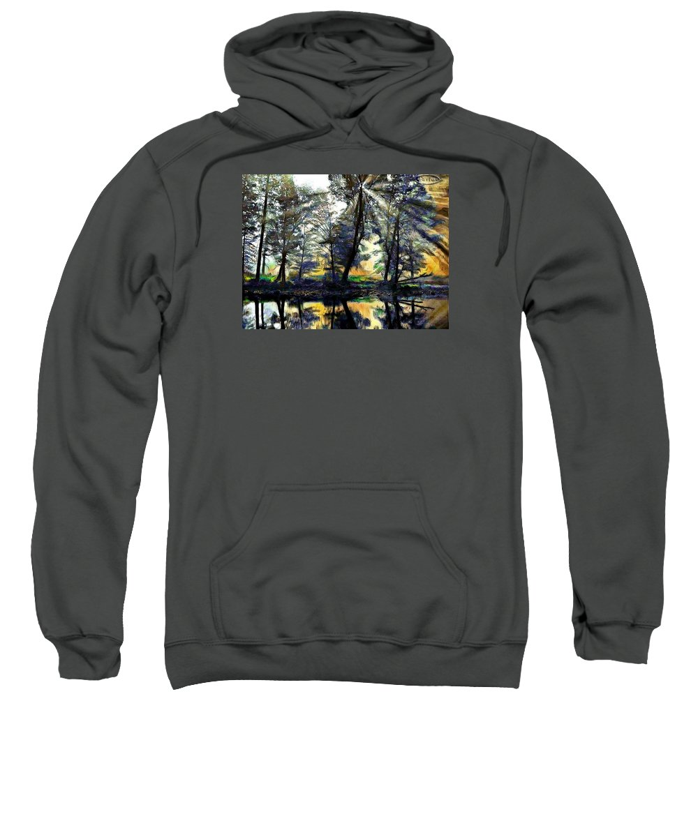 Forests And Trees Sweatshirt featuring the photograph The Forests Of Avalon by Mario Carini