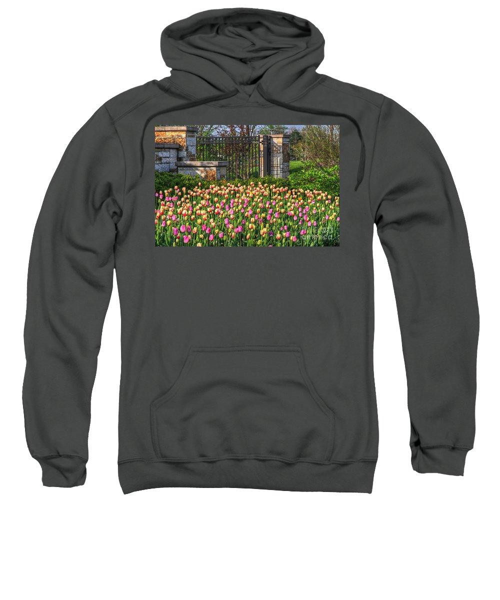 Tulips Sweatshirt featuring the photograph The Garden Enterance by Robert Pearson