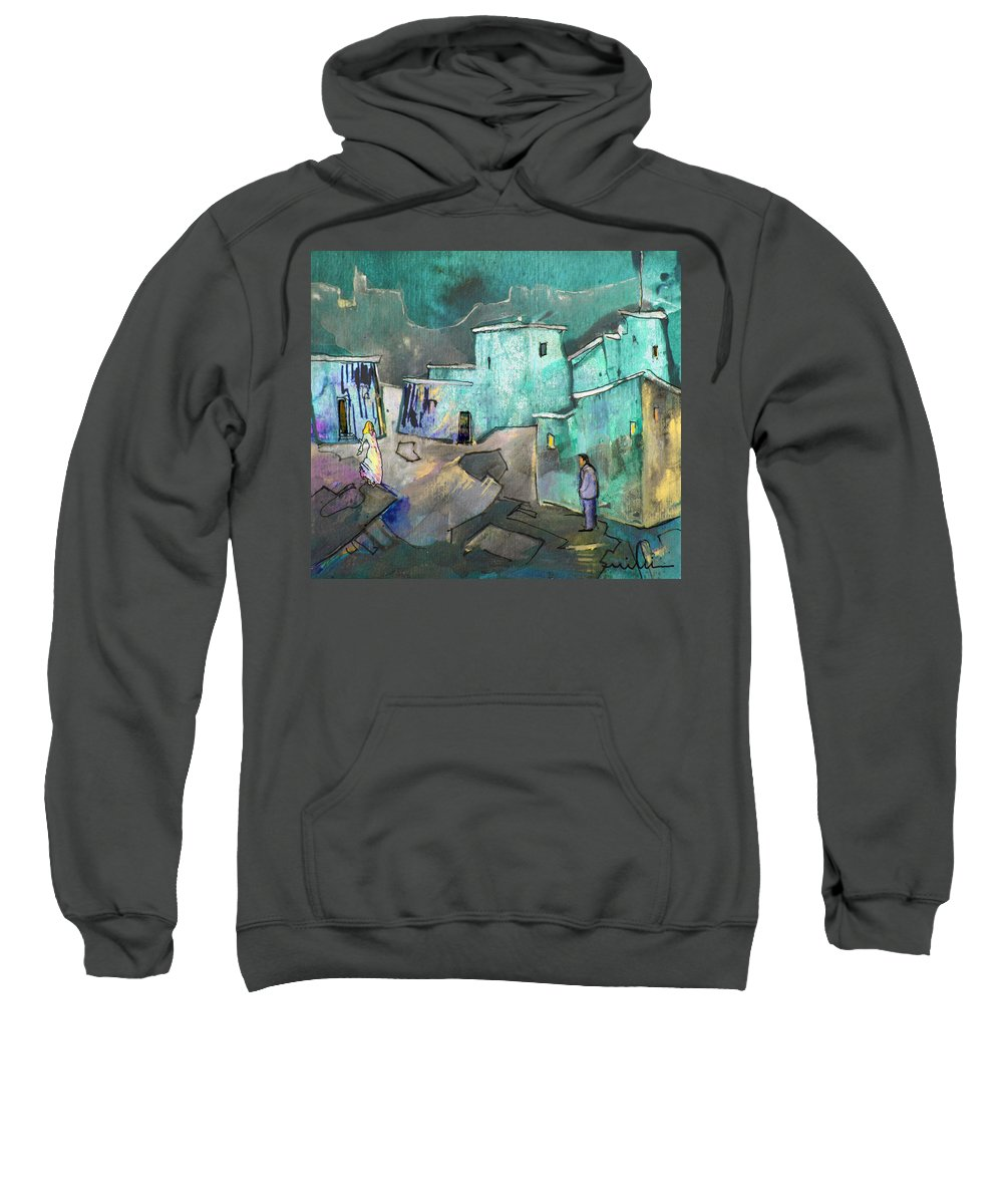 Acrylics Sweatshirt featuring the painting The Girl Of His Dreams by Miki De Goodaboom