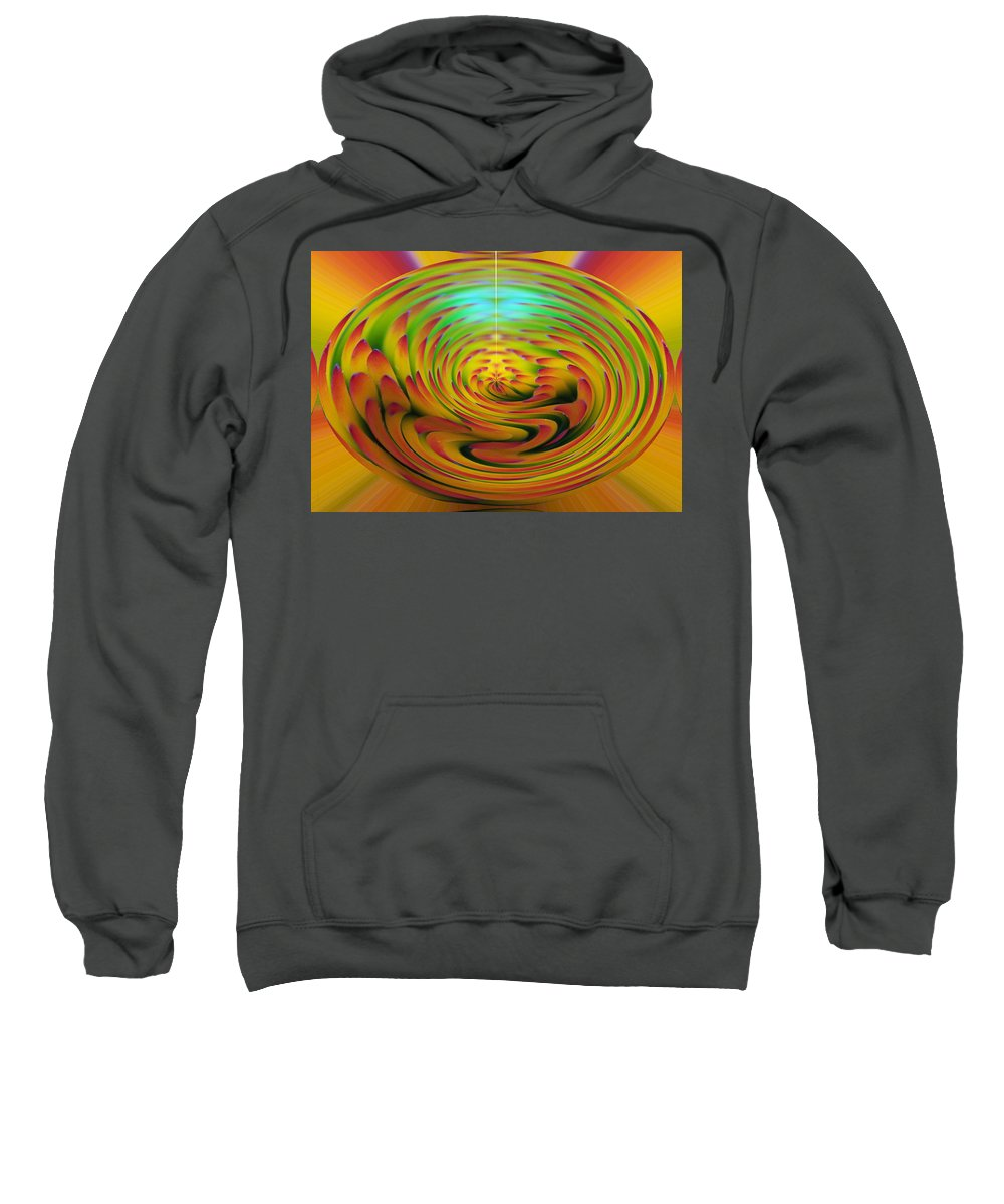 Abstracts Sweatshirt featuring the digital art The Globe by Ernie Echols