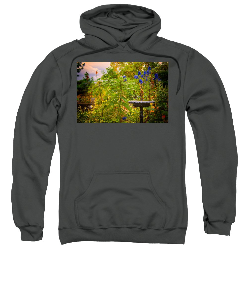 Fountain Sweatshirt featuring the photograph The Gods Look On by Mike Smale