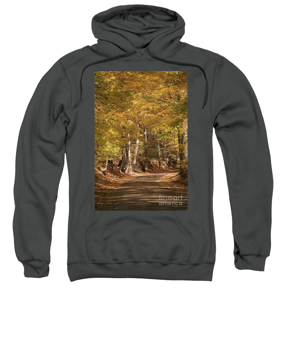 Golden Sweatshirt featuring the photograph The Golden Road by Robert Pearson