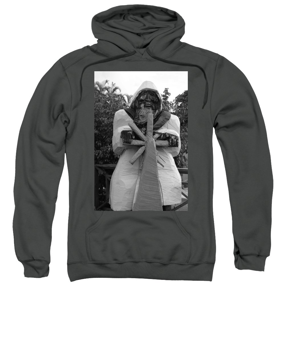Black And White Sweatshirt featuring the photograph The Gordon Fisherman by Rob Hans
