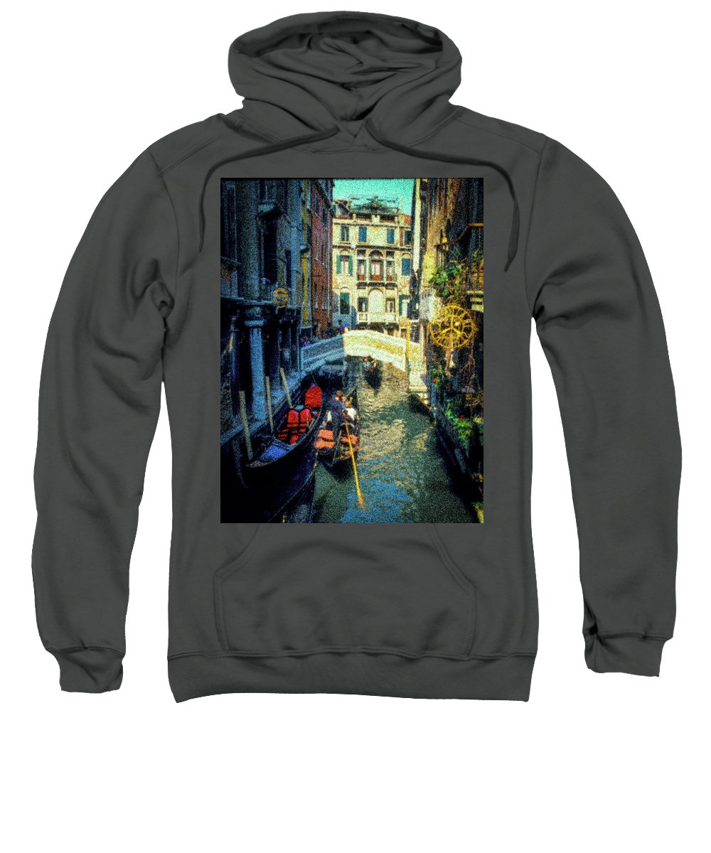 Grand Canal Sweatshirt featuring the photograph The Grand Canal by Janine Moore