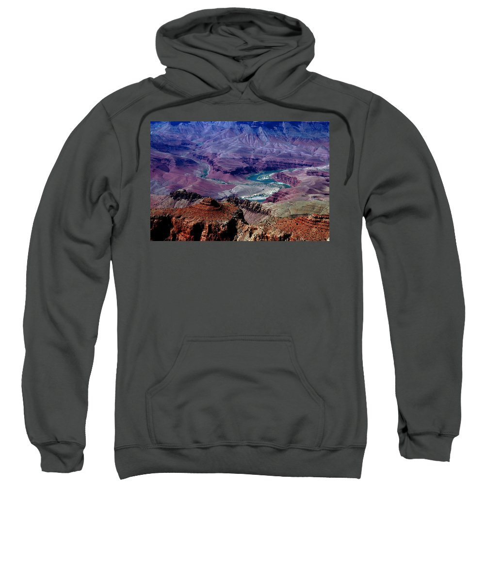 Photography Sweatshirt featuring the photograph The Grand Canyon by Susanne Van Hulst