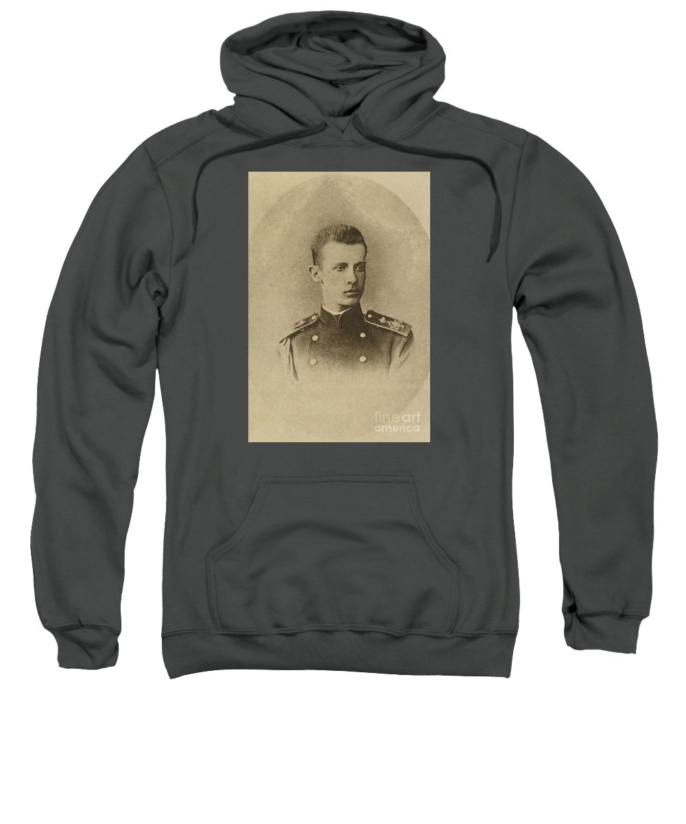 The Grand Duke Dimitry Konstantinovich Romanov Sweatshirt featuring the painting The Grand Duke Dimitry by MotionAge Designs