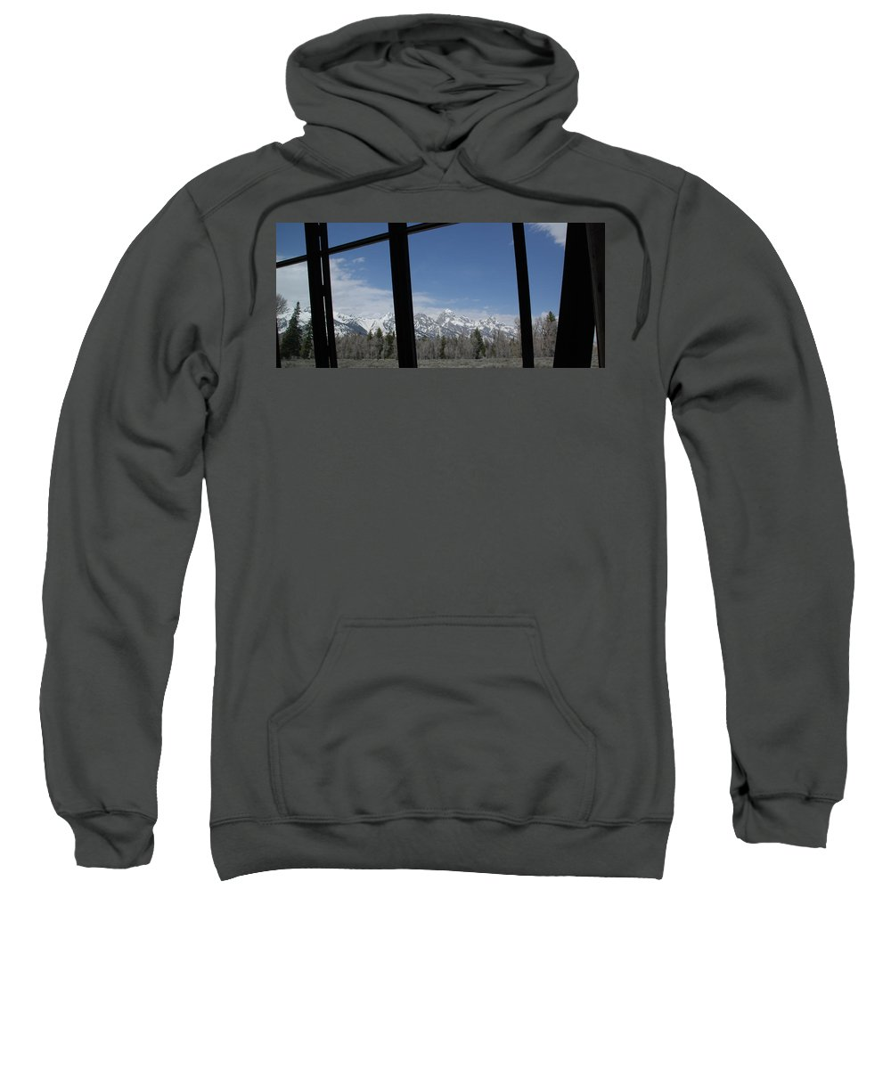 Photography Sweatshirt featuring the photograph The Grand Tetons by Susanne Van Hulst