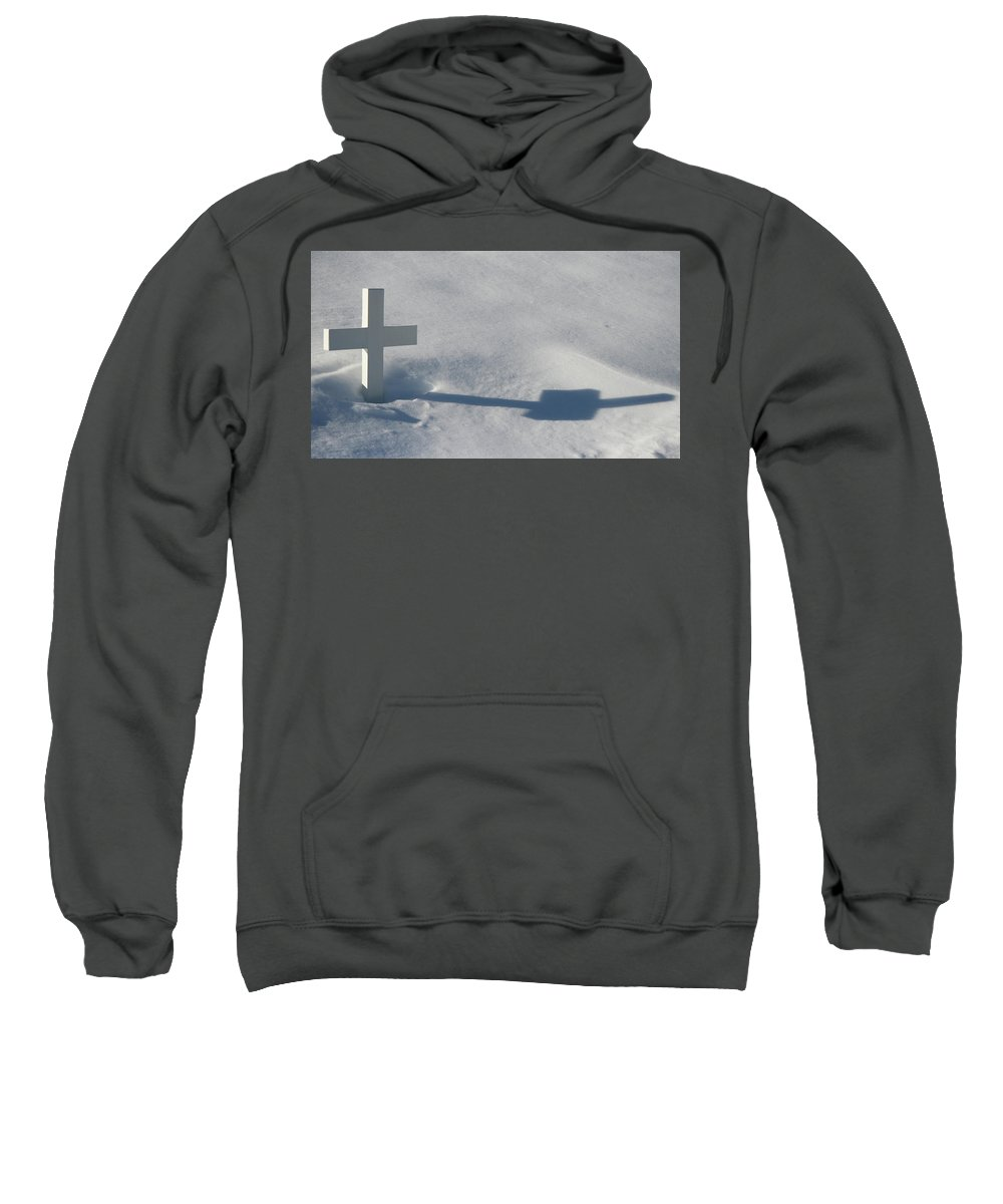 Grave Sweatshirt featuring the photograph The Grave Of Bobby Kennedy by Cora Wandel