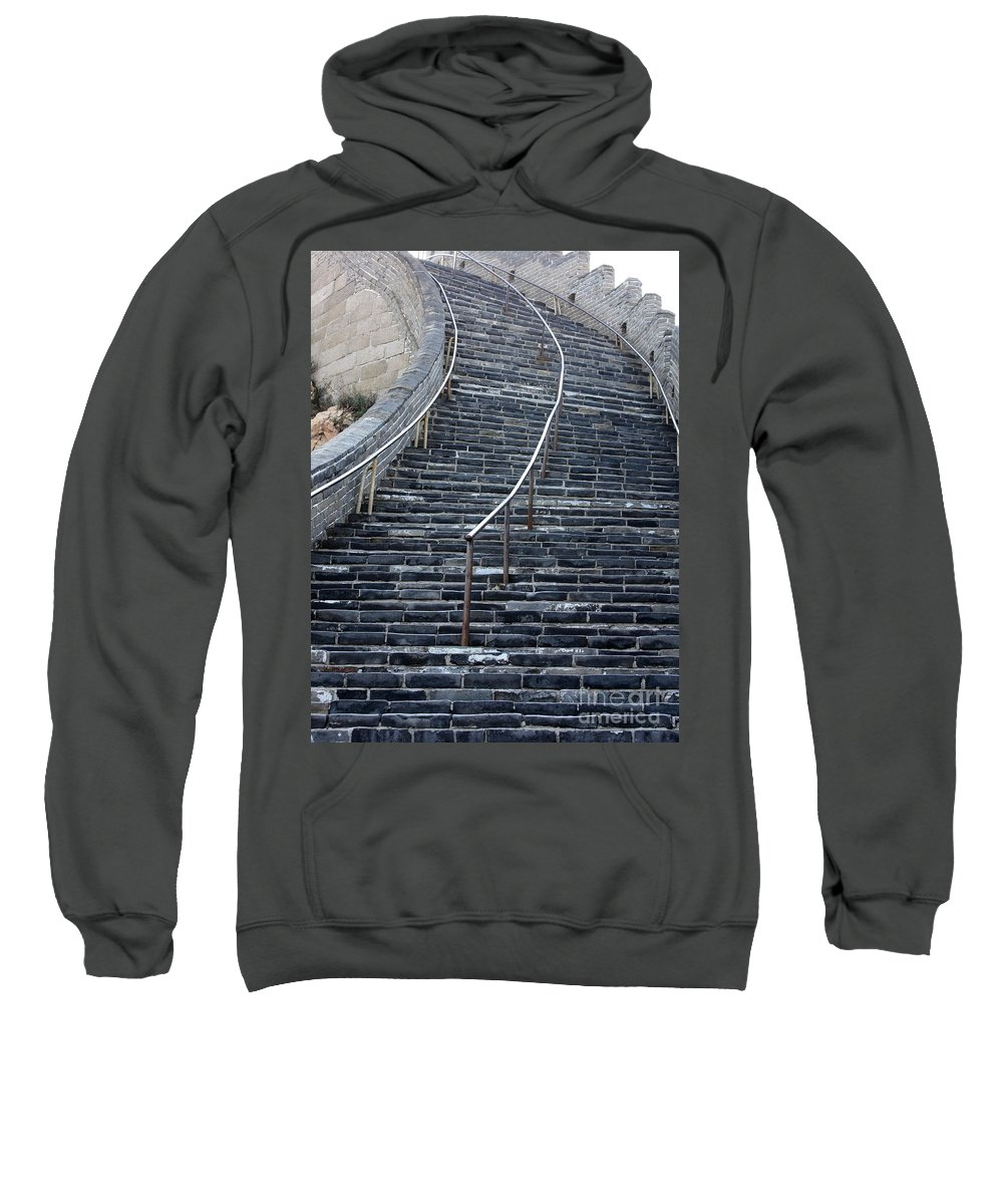 Steps Sweatshirt featuring the photograph The Great Wall Steps by Carol Groenen