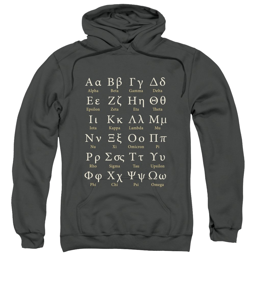Greek Alphabet Sweatshirt featuring the photograph The Greek Alphabet by Mark Rogan