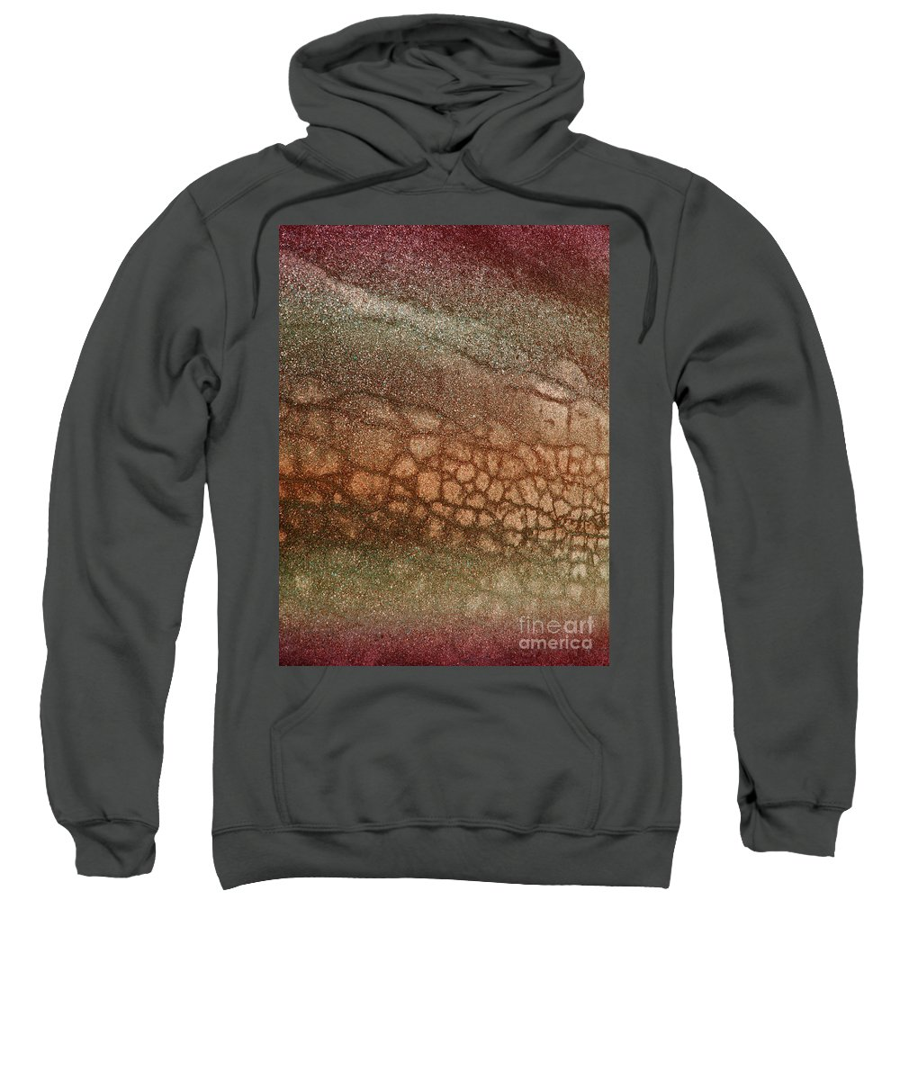 Macro Sweatshirt featuring the photograph The Ground At My Feet by Tara Turner
