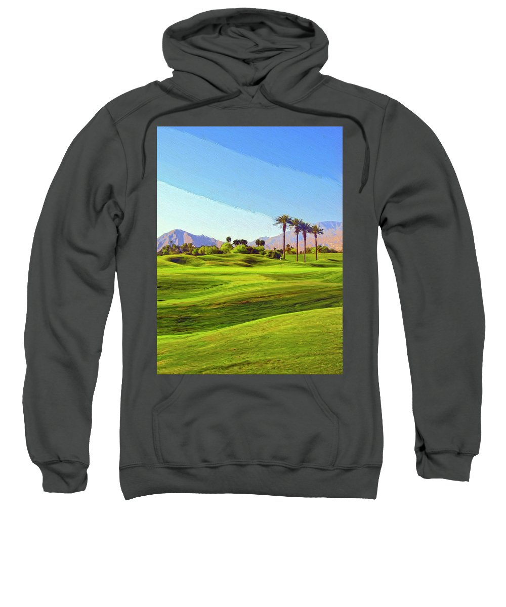 Golf Sweatshirt featuring the painting The Hard Way Home by Dominic Piperata