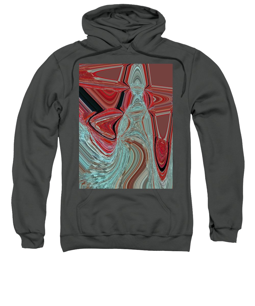 Abstract Sweatshirt featuring the digital art The Heart Is The Key by Lenore Senior